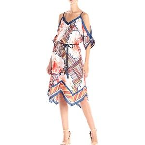 Rachel Roy | Peach Floral Scarf Dress | M